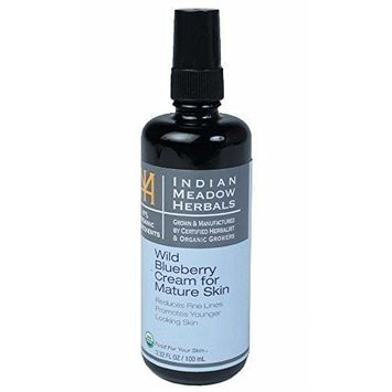 Indian Meadow Herbals, Face Cream Wild Bluberry Mature, 1.69 Ounce