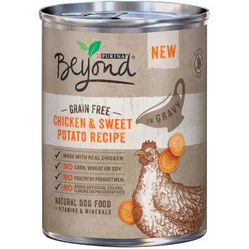 Purina Beyond Grain Free Chicken & Sweet Potato Recipe in Gravy Natural Dog Food