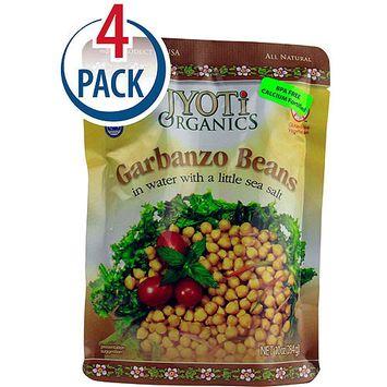 Jyoti Organics Garbanzo Beans, 10 oz, (Pack of 6)