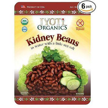 Jyoti Organic Kidney Beans, 10 oz, (Pack of 6)