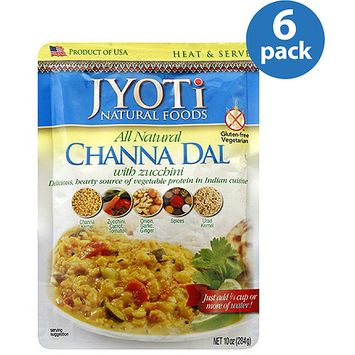 Jyoti All Natural Channa Dal with Zucchini, 10 oz, (Pack of 6)