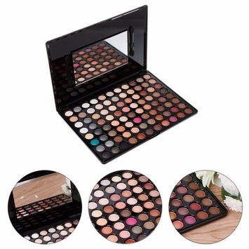 Professional Shimmer and Matte Makeup Eyeshadow Palette 88 Color Pigment Eye Shadow Palettes Make up Combination Pallet with Mirror and eyeshadow brush