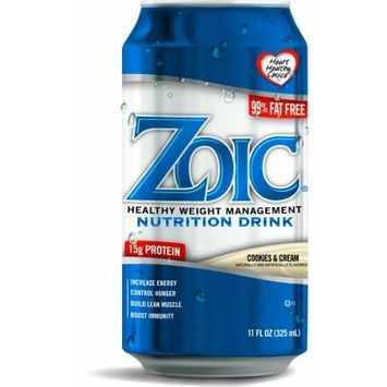 Solis Brands ZOIC Nutrition Drink Cookies and Cream (Pack of 24)