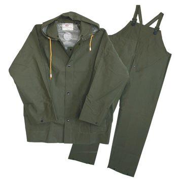 Boss Rainwear 3pr0300gj Xxl Green Lined Rain Suits 3 Piece