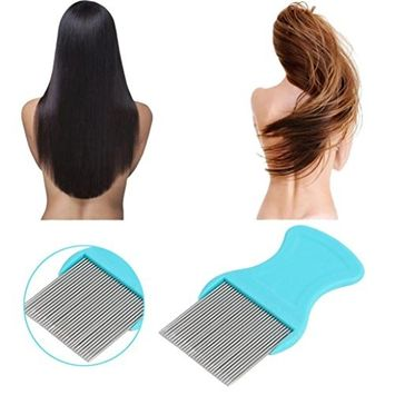 Creazy Hair Lice Comb Brushes Terminator Fine Egg Dust Nit Free Removal Stainless Steel