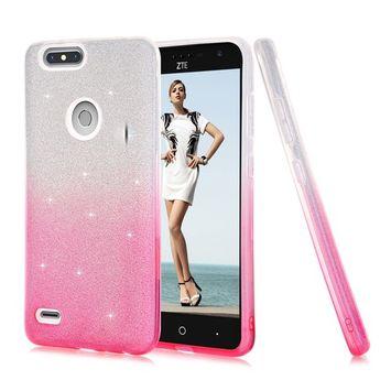Urberry ZTE Blade Zmax Pro 2 Case, ZTE Sequoia Case, ZTE Z982 Sparkling Glitter Case, Luxury Bling Case for ZTE-Z982