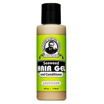 Uncle Harry's Natural Products Lavender Seaweed Hair Gel and Conditioner, Nourishing Volumizing Restoring with Irish Moss and Pure Plant Essences, pH Balanced, Gluten Free and Vegan, 4 Fluid Ounces