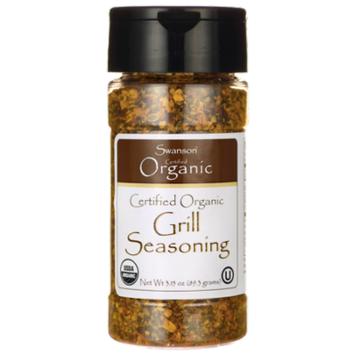 Swanson Certified Organic Grill Seasoning 3.15 oz (89.3 g) Flakes