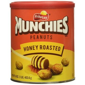 Munchies Honey Roasted Peanuts, 16 oz Canister