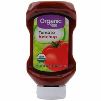 (3 Pack) Great Value Organic Tomato Ketchup, 20 Oz