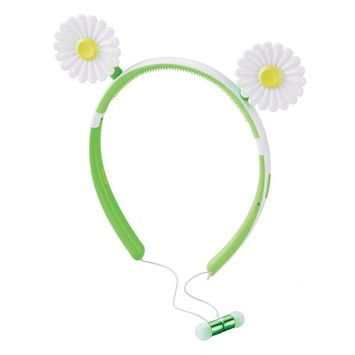 Brookstone Wireless Daisy Earbuds with Removable Daisies