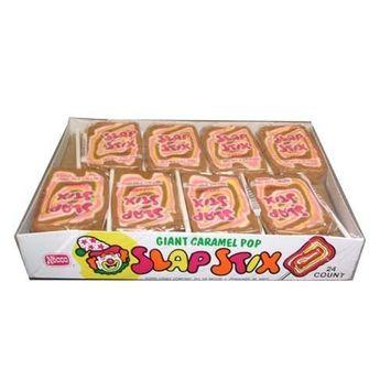 Necco Slap Stix Caramel Lollipops Twenty-Four 2 Ounce Pops
