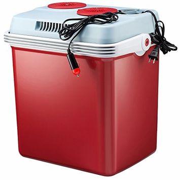 Knox 12-Volt Car Cooler and Warmer, 27-Quartz - Red