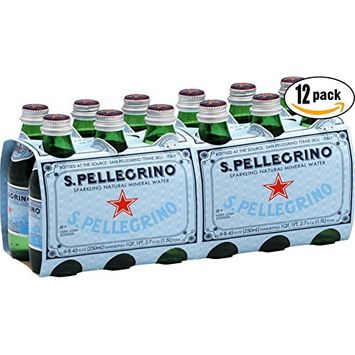 Italian Sparkling Natural Mineral Water - 250 ml Glass Bottle (Case of 12)