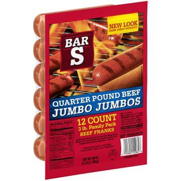 Bar-S® Quarter Pound Beef Jumbo Jumbos® Franks