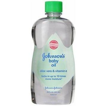 Johnsons Baby Oil with Aloe Vera V E-20 fl oz