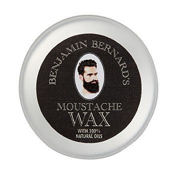 Finest Strong Mustache Wax by Benjamin Bernard: Long Lasting, Easy to Apply – Contains Natural Wax, Jojoba Oil, Avocado Oil - Fresh Scent - 0.85Fl.oz/25 ml