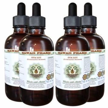 Gua Lou, Trichosanthes (Trichosanthes Kirilowii) Glycerite, Dried Fruit Powder Alcohol-Free Liquid Extract, 瓜蒌, Glycerite Herbal Supplement 4x4 oz