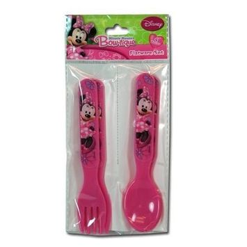 Minnie Bowtique 4pc Fork & Spoon Set in Bag