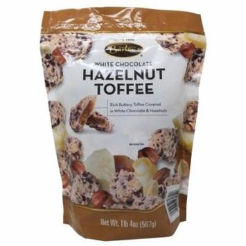 Bartons White Chocolate Hazelnut Toffee 1 LB 4 OZ