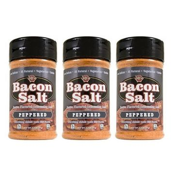 J&D's Peppered Bacon Salt - 3 PACK - Low Sodium All Natural Bacon Flavored Seasoning Salts