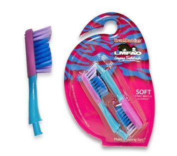 Brush Buddies 8-52060-00341-1 LMFAO Singing Toothbrush Replacement Brush Heads