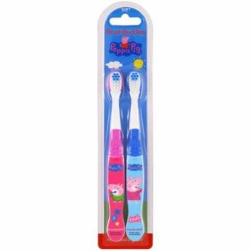 Brush Buddies, Peppa Pig Toothbrush, Soft, 2 Pack(pack of 4)