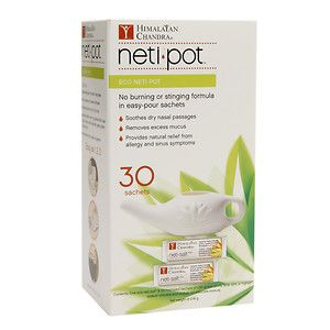 Himalayan Institute Eco Neti Pot with 30 Neti Salt Sachets, 1 ea