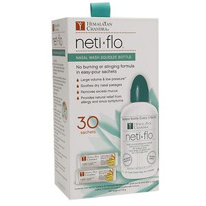 Himalayan Institute Neti Flo with 30 Neti Salt Sachets, 1 ea