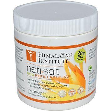 Himalayan Institute, Neti-Salt, Eco Refillable Jar, 12 oz (340.2 g) - 2pc (Pack of 2)