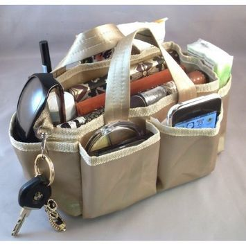 Lot of 3! Lexie Gold Handbag Bag Purse Tote Travel Cosmetic Make-Up Organizer Insert Product Dimensions: 9