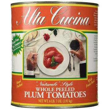 Stanislaus Alta Cucina Natural Style Whole Peeled Plum Tomatoes, 6.43 Pound (Pack of 6)
