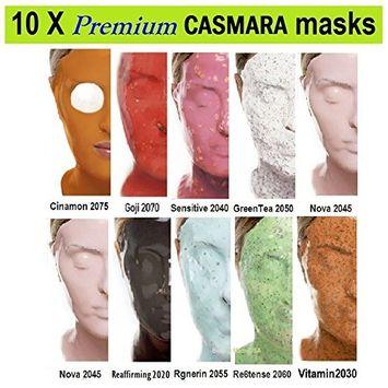 10X CASMARA Mask Premium Package (10 Multi Colors) + 1 Mixing Spatula and 2 Korean Skincare Samples