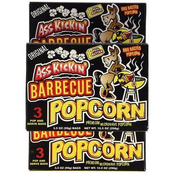 Ass Kickin' Bbq Popcorn, 3.5-Ounce Boxes (Pack of 6)