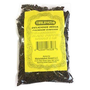 Tirupathi Peppercorn (Whole)-Black Tellicherry, 16-Ounce Unit 1 LB