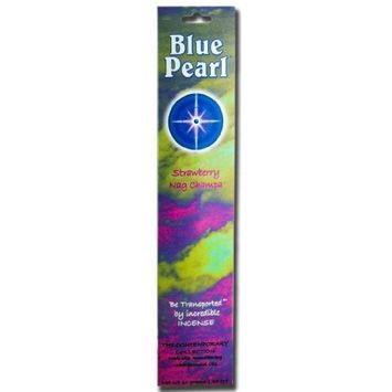 Blue Pearl Incense Blue Pearl Strawberry Nag Champa 10 gm Contemporary Incense Collection
