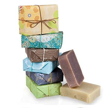 Jensan 6-piece Assorted Handmade Natural Organic Shea Butter Soap Set (Scents for Women)