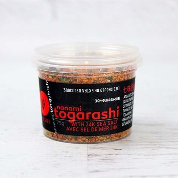YOSHI Shichimi/Nanami 7-Spice Togarashi Dry Chili Blend Seasoning With Sea Salt, 55g (1.94oz) | Japanese Chile Spice Blend, Use On Udon and Soba Dishes, Potatoes, Fries, Steamed Vegetables, and More