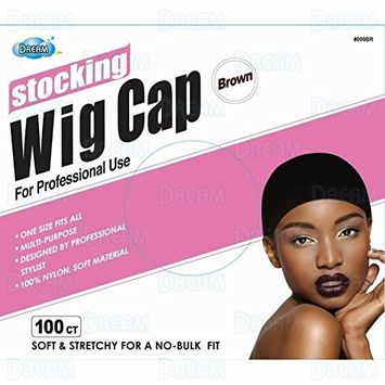 Dream Womens Wig Cap #BROWN (100CT)