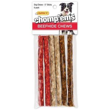 Rhode Island 03172 Ruffin?It ? Chomp?Ems Dog Chews, Beefhide, 6 Count