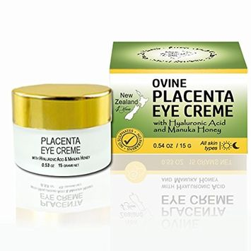Zealand 4 You Ovine Placenta Eye Cream with Hyaluronic Acid and Manuka Honey - Reduces Fine Lines & Wrinkles, Firms & Brightens - All Natural Ingredients, 15g