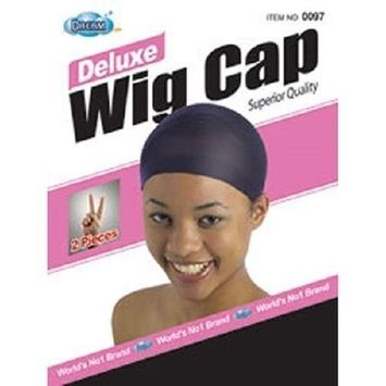DREAM Deluxe Wig Cap Black 12 pieces (Model: 097 BLACK), Spandex cap