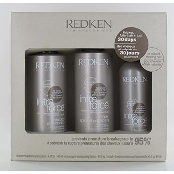 Redken Intra Force Shampoo 30 Days Kit For Natural Thinning Hair 12oz