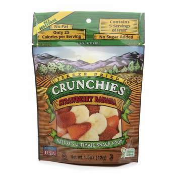 Crunchies Freeze Dried Snack Food Strawberry Banana