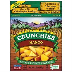 Crunchies Freeze Dried Snack Food, Mango, 1.5 oz