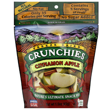 Crunchies Cinnamon Apples Freeze Dried Fruit