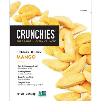 Crunchies Crispy Mango 100% All Natural Freeze-Dried Fruits, 1.2 Ounce (6 Count)
