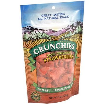 Crunchies 100% Organic Strawberries, 1 oz (Pack of 6)