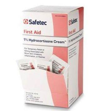 Safetec Hydrocortisone 1% Cream.9 g. pouch 144 ct. box (12 boxes/case)
