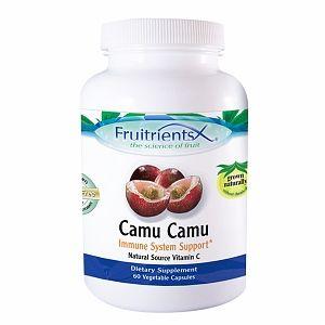 FruitrientsX - Camu Camu Natural Source Vitamin C - 60 Vegetarian Capsules